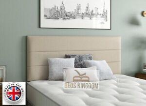 "Horizontal 3 Panel Design 20"" Single Double kingsize - FOR ALL DIVAN BEDS"