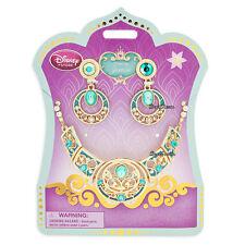 Disney Store JASMINE Princess Girls Aladdin Costume Jewelry Necklace Set 3pc NEW