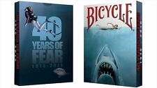 Bicycle 40 Années de Fear Jaws Playing Card Poker Cartes de jeu