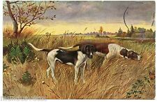 Artist Signed. Dogs Chasse. Hunting Dogs