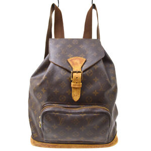 LOUIS VUITTON MONTSOURIS GM BACKPACK PURSE MONOGRAM M51135 tu 39976