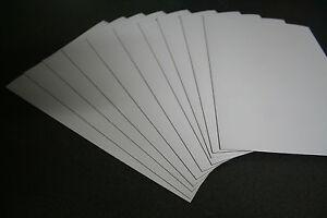 10 x 1mm x A4 Magnetic Magnet Sheets (White PVC Front Face) - Fridge Flexible