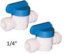 """2x 1/4"""" Inline Push Fit Rubinetti, Osmosi Inversa, Americano Frigoriferi Tubo dell'acqua"""