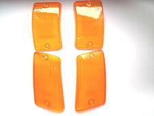 Vespa PK XL  2 50 - 125 Blinkerglas Blinker gelb orange 4 Stück NEU