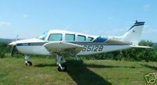 Beechcraft Sierra Airplane Desktop Wood Model Big New