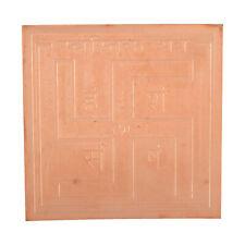 Swastik Yantra Yantram Symbol Of Prosperity & Hinduism 3.5 x 3.5 Inchs Coper Col