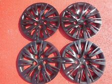 """Toyota Camry Hubcaps Wheel Covers 2012 2013 2014 16"""" Black Factory Caps  #61163"""