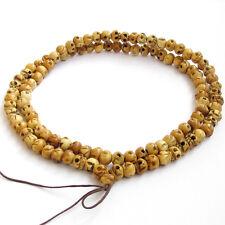9mm*7mm--Tibet Bone Skull Buddhist Prayer Worry Beads Mala Necklace--108Beads