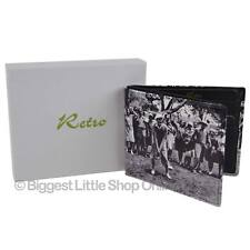 NEW Mens LEATHER Bi-Fold WALLET by Retro Golf Vintage Black & White Gift Box