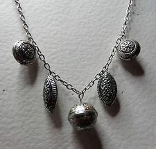 """Estilo Vintage gruesa collar cadena encantos Oscuro Plateado Plata 24"""" 60 Cm"""