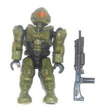 Halo Mega Bloks Figures ~ 2013 UNSC Spartan Recon (vert) & FUSIL