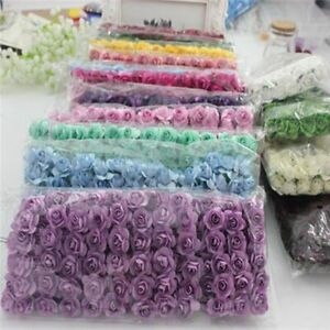 144PCS Small Paper Rose Handmade Party Supplies Car Decoration Artificial Flower