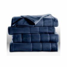 Sunbeam Heated Blanket, King, Fleece, Restful Sleep, Blue