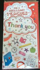 For A Brilliant Teacher Thank You 3D Greeting Card End Of Term/Year