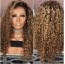 Women Fashion Afro Long Kinky Curly Hair Wavy Wigs Sexy Lace Front Wig Party Wig