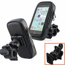 1xBlack Bike Bicycle Motorcycle Phone Case Bag Handlebar Mount Holder Waterproof