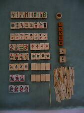 Antique 19th Century Bone and Bamboo Mah Jong Set (Complete)