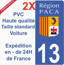 Sticker autocollant plaque immatriculation département 13 région PACA Marseille