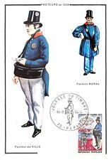 Carte Maximum FDC France JOURNÉE DU TIMBRE FACTEUR DE VILLE EN 1830 Mars 1970