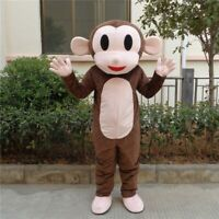 Monkey Mascot Costume Suit Cosplay Party Fancy Dress Advertising Halloween Adult