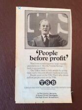 A4f Ephemera 1975 Advert T S B People Before Profit