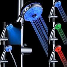 Adjustable 3 Mode 3 Color RGB LED Shower Head Temperature Sensor Bath Sprinkler