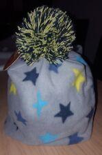 Mütze Bobo 49 cm winter warm jungen Sterne baby Kleinkind Fleece Bommel