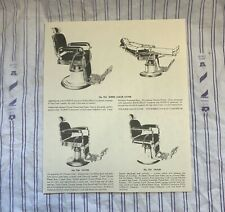 3 Vintage 1950'S KOKEN Barber Chairs  Sign/Ad