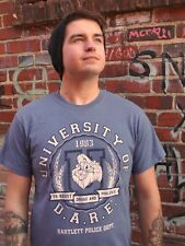 DARE TO RESIST DRUGS AND ALCOHOL Blue Cotton Blend Size M T-Shirt