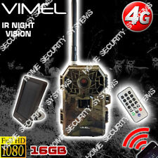 4G Trail Camera Solar Powered 16GB Security Hunting Remote Control View Phone 3G