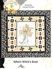 WHICH WITCH'S BOOTS EMBROIDERY PATTERN From Crabapple Hill Studio NEW