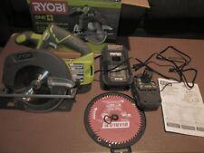 "Ryobi P507 ONE+ 18V 6-1/2"" Cordless Circular Saw pre owned"