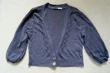 River Island Purple-Grey Cropped Cardigan Size 10