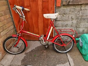 Vintage Raleigh Bicycle - The Raleigh FOURTEEN childs Bike in Red - With Pump