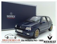 1:18 Renault Clio Williams Ph I año 1993 color Azul Oscuro NorevRef.185230