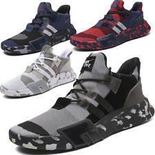 Men's Fashion Creepers Running Sneakers Camouflage Breathable Trainers Mid Top
