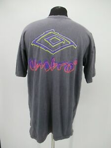 P3886 VTG Umbro Logo Graphic Short-Sleeve T-Shirt Made In USA Size XL