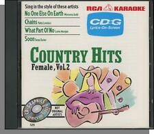 Karaoke CD+G - Country Hits: Female Vol 2 - New 4 Song RCA CD! What Part of No