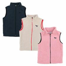 Victoria's Secret Pink Vest Full Zip Sherpa Sleeveless Outerwear Logo Casual New