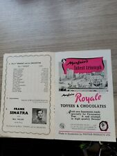 More details for variety theatre programme 1953,manchester palace, frank sinatra,