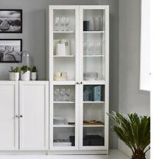 Regal Anette mit Glastüren Vitrine Glasvitrine in weiß Schrank Wohnzimmer