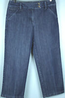 ANN TAYLOR SIZE 4 Women's Cropped Crop Capri Blue Jeans Denim Pants Dark Wash