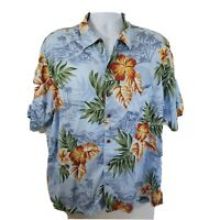 Land's End Hawaiian Shirt  Large 16-16 1/2