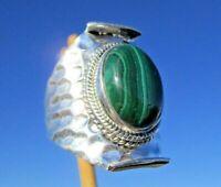 Malachit - Ring Gr. 18 Silber 925