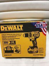 "New DeWalt 20V MAX XR Compact Brushless 1/2"" Cordless Drill/Driver Kit"