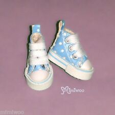 "Mimi Collection 12"" Neo Blythe Pullip Bjd Doll MICRO Shoes Dot Sneaker BLUE"