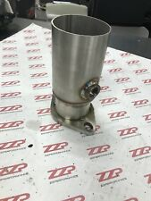 """3"""" Stainless Pipe to 2.5"""" 2 bolt Flange Reducer w/ o2 bung Downpipe Exhaust"""