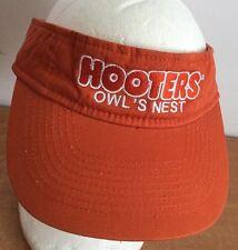 Hooters Hat Visor Owl's Nest Baseball Cap Orange One Size Embroidered Logo