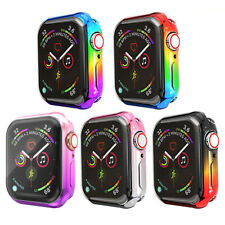 Rainbow Ombre Full Screen Protector Cover Bumper Case For Apple Watch 38/40/44mm