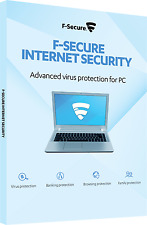 F-Secure Internet Security Advanced Virus Proctection PC 1 Year 3 Devices